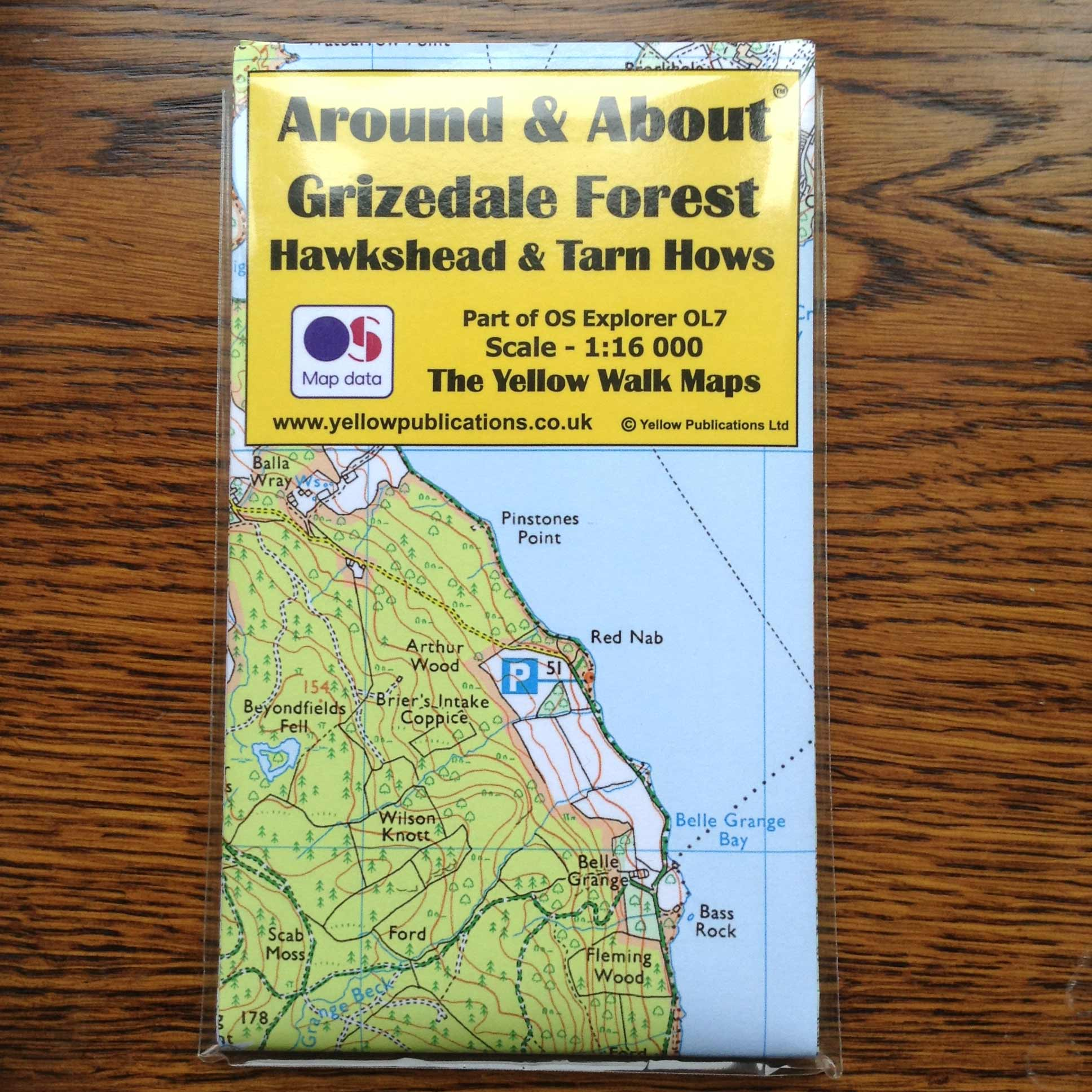 Grizedale Forest Hawshead & Tarn Hows map