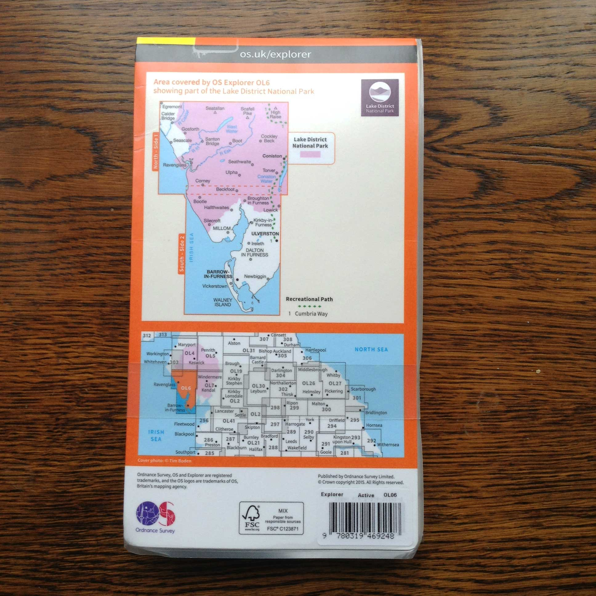 OL 6 The English Lakes active map