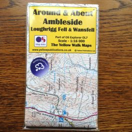 Ambleside, loughrigg & wansfell walking map