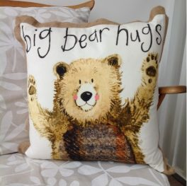 Big bear hugs cushions
