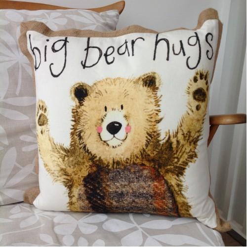 Big bear hugs cushions