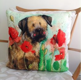 border terrier cushion animals