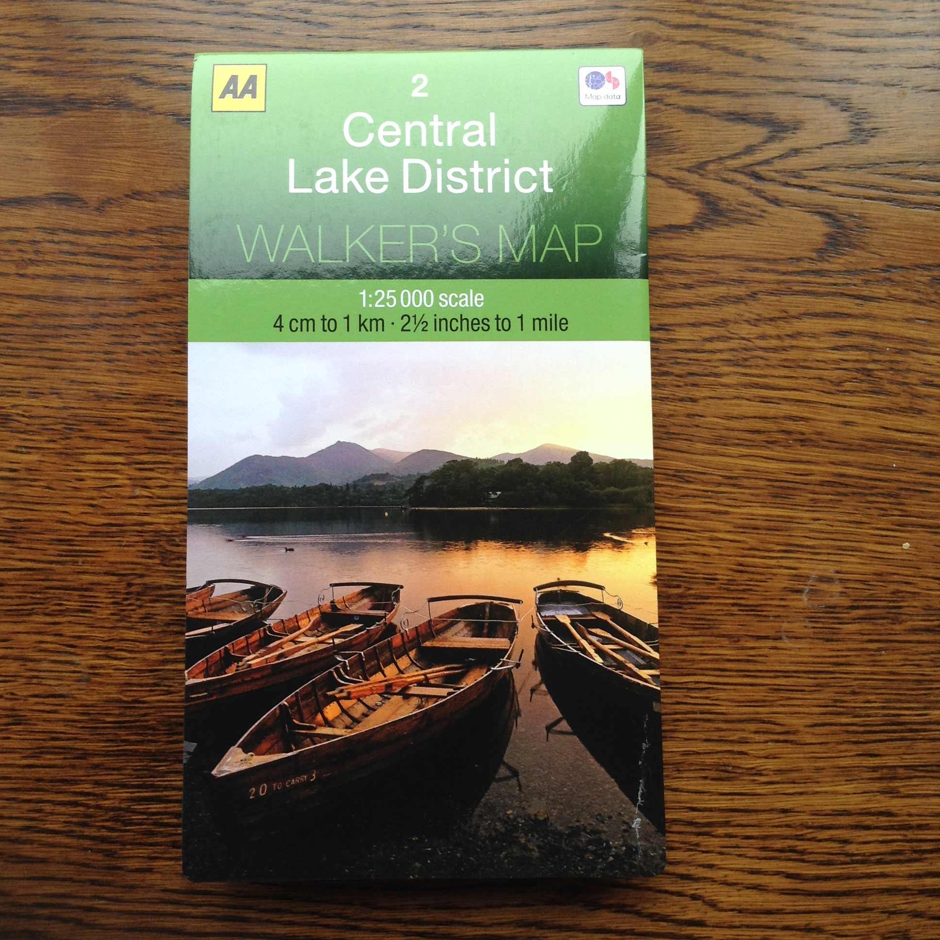 Central Lake District Walker's Map