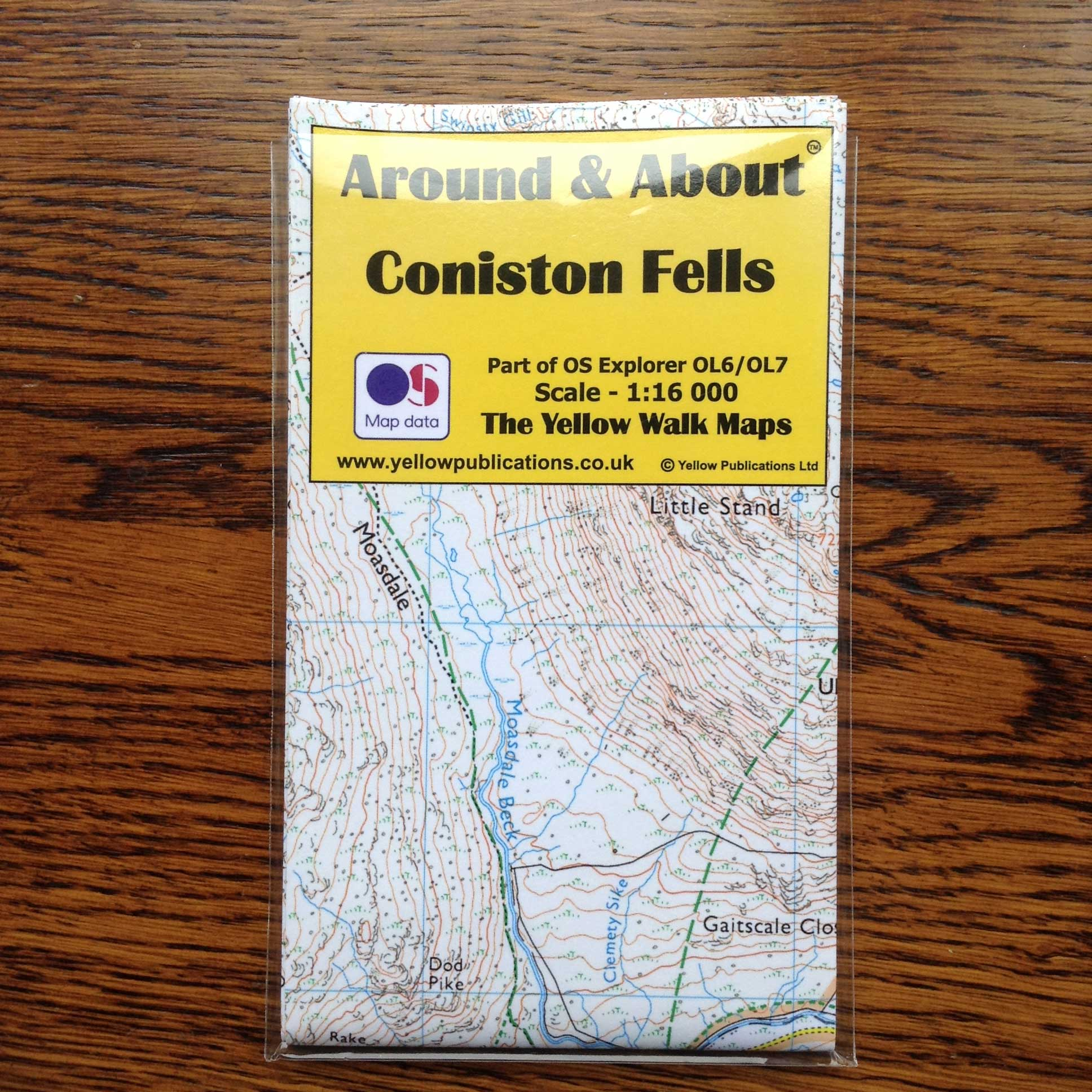 Around & About Coniston Fells Map