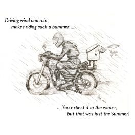 Glockwork cards motorbike greeting card