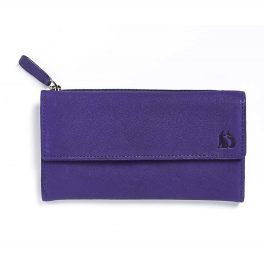 Foxfield Damson Leather Purse Windermere