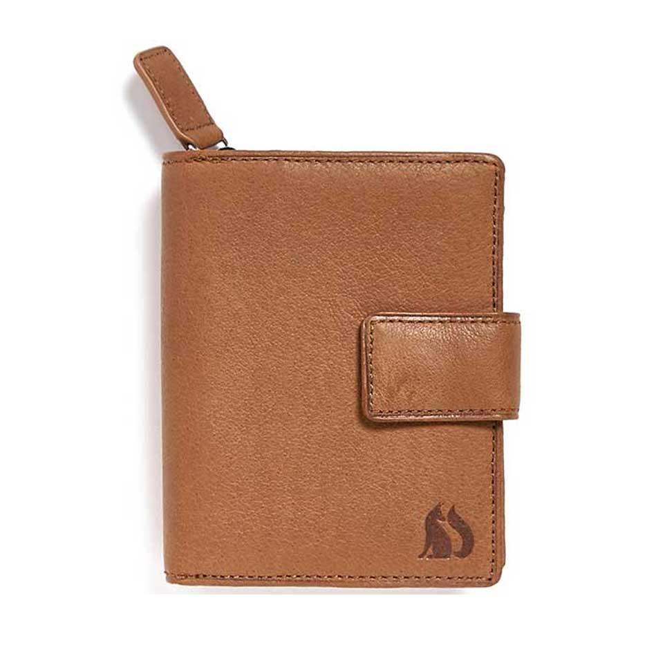 Langdale Foxfield black leather purse