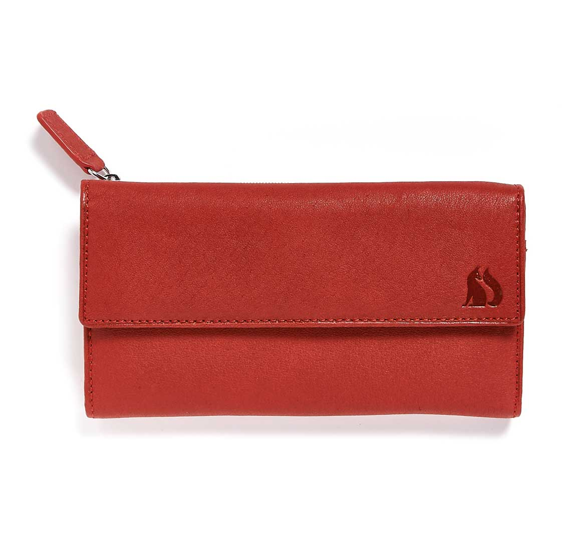 Foxfield Red Leather Purse Windermere