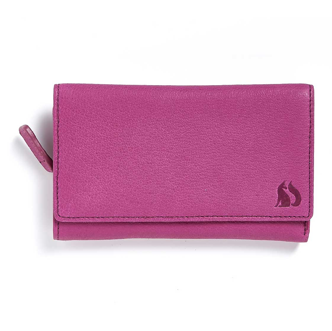 Foxfield Thirlmere Berry Leather Purse
