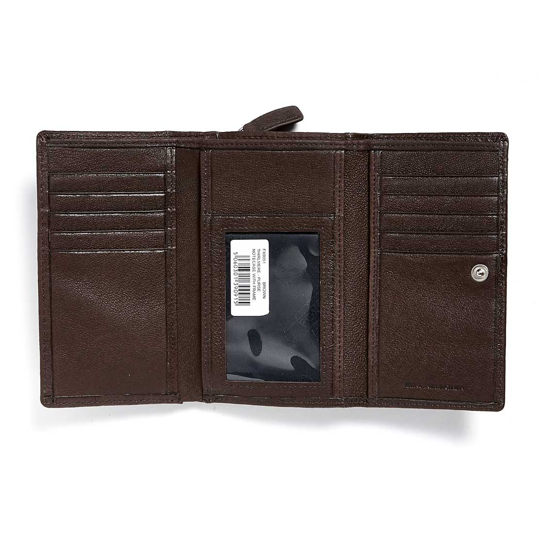 Foxfield Thirlmere Brown inside Leather Purse