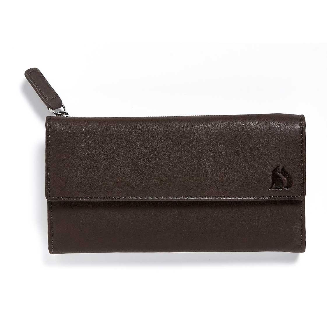 Foxfield Brown Leather Purse Windermere