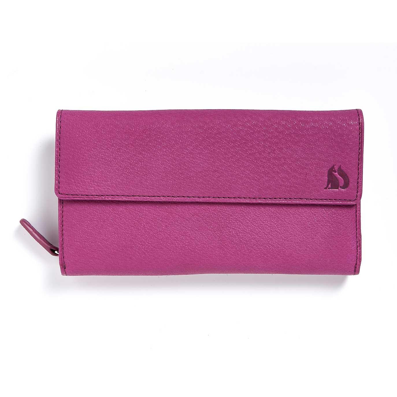 grizedale foxfield berry leather purse