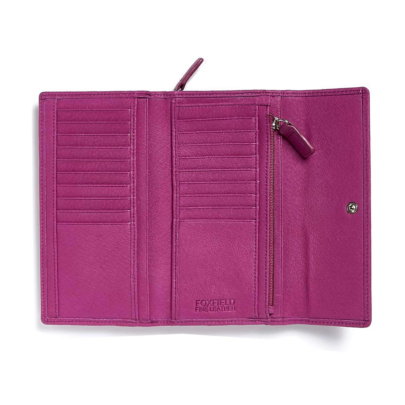 Grizedale Foxfield leather purse open