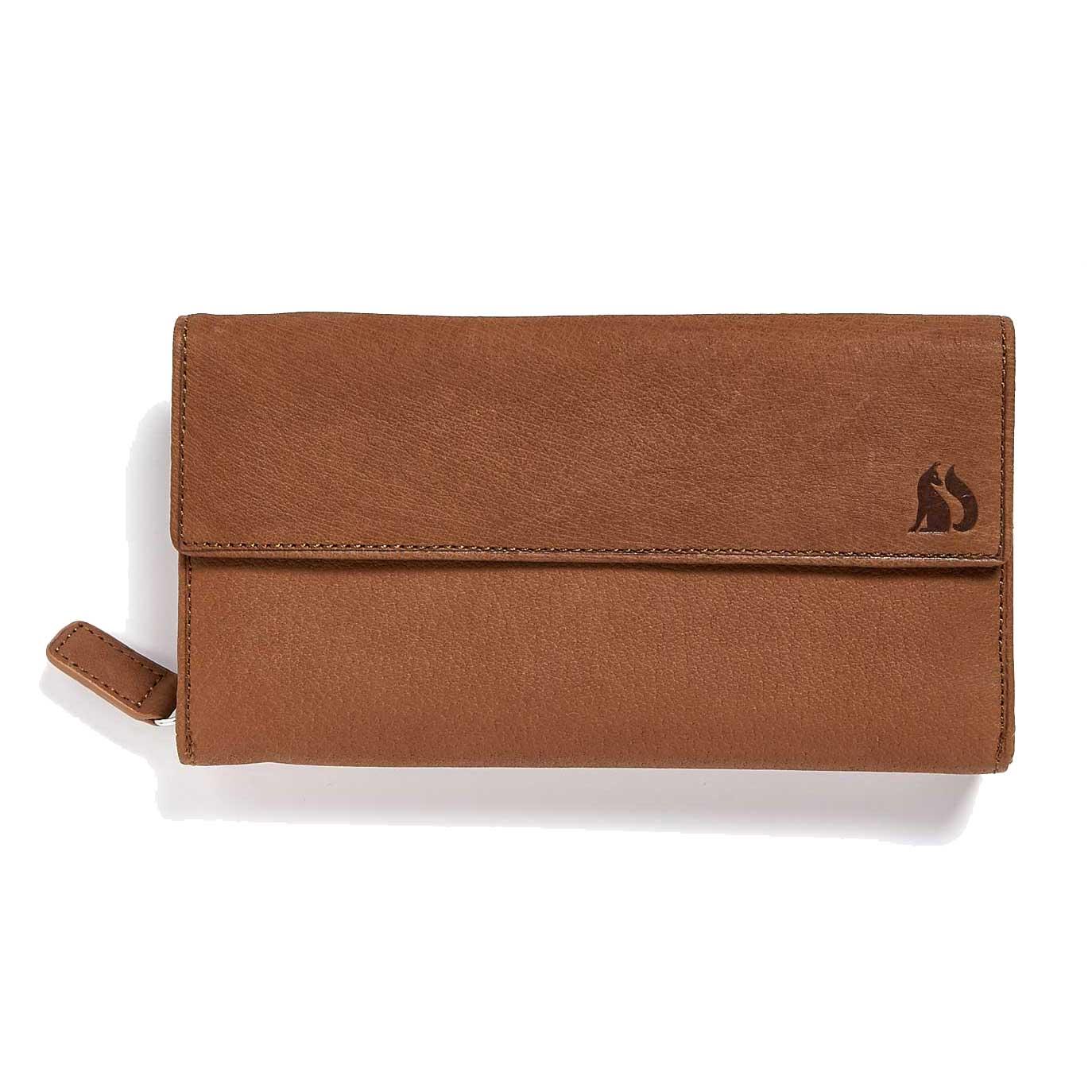 Grizedale Foxfield tan leather purse