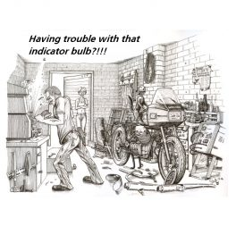 motorbike greetings card