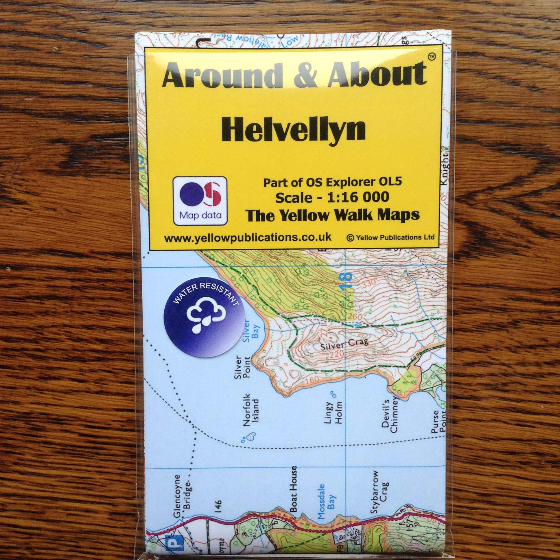 Helvellyn Yellow Walk Map