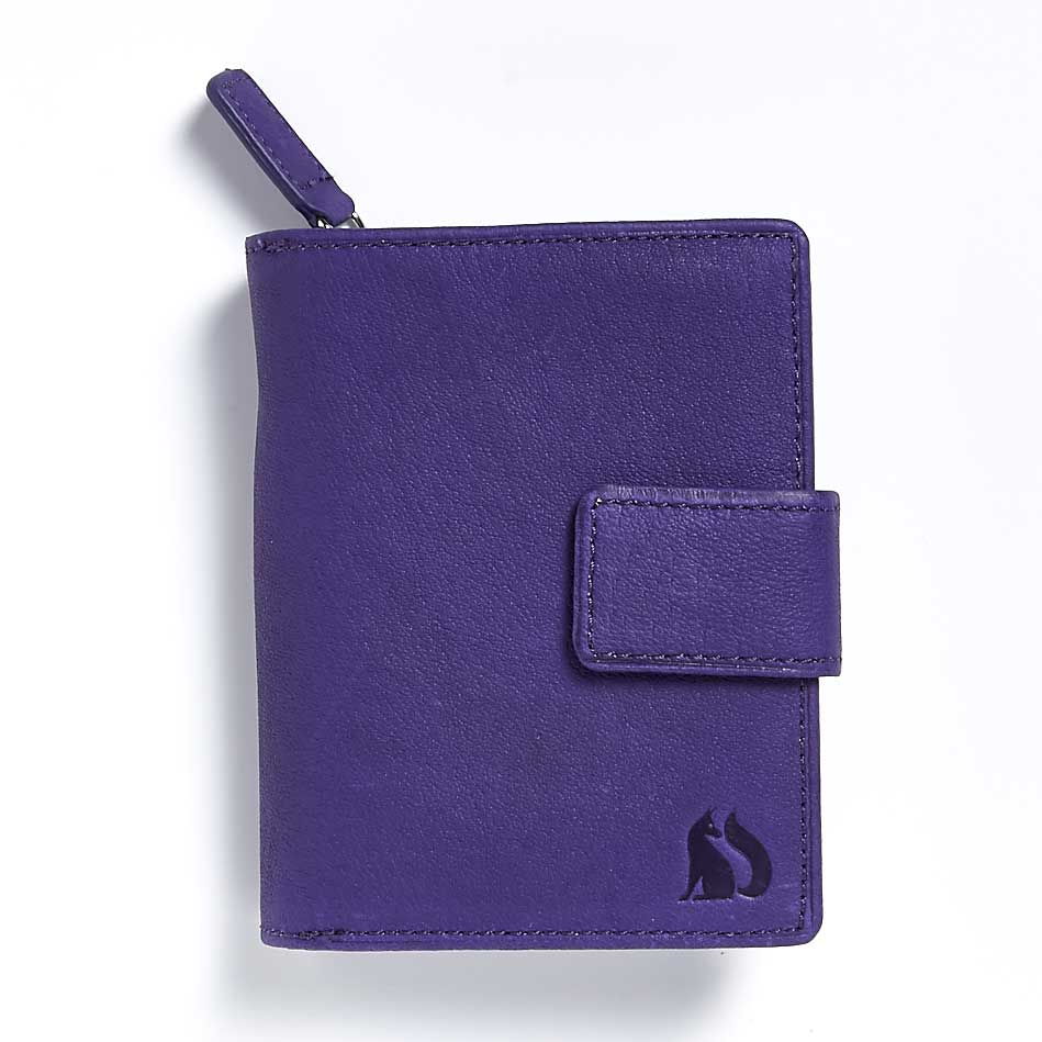 Langdale Foxfield damson leather purse