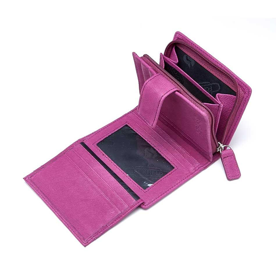 Open Langdale Foxfield leather purse