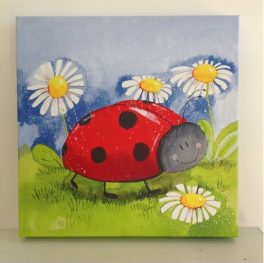 Little lady bird art canvas