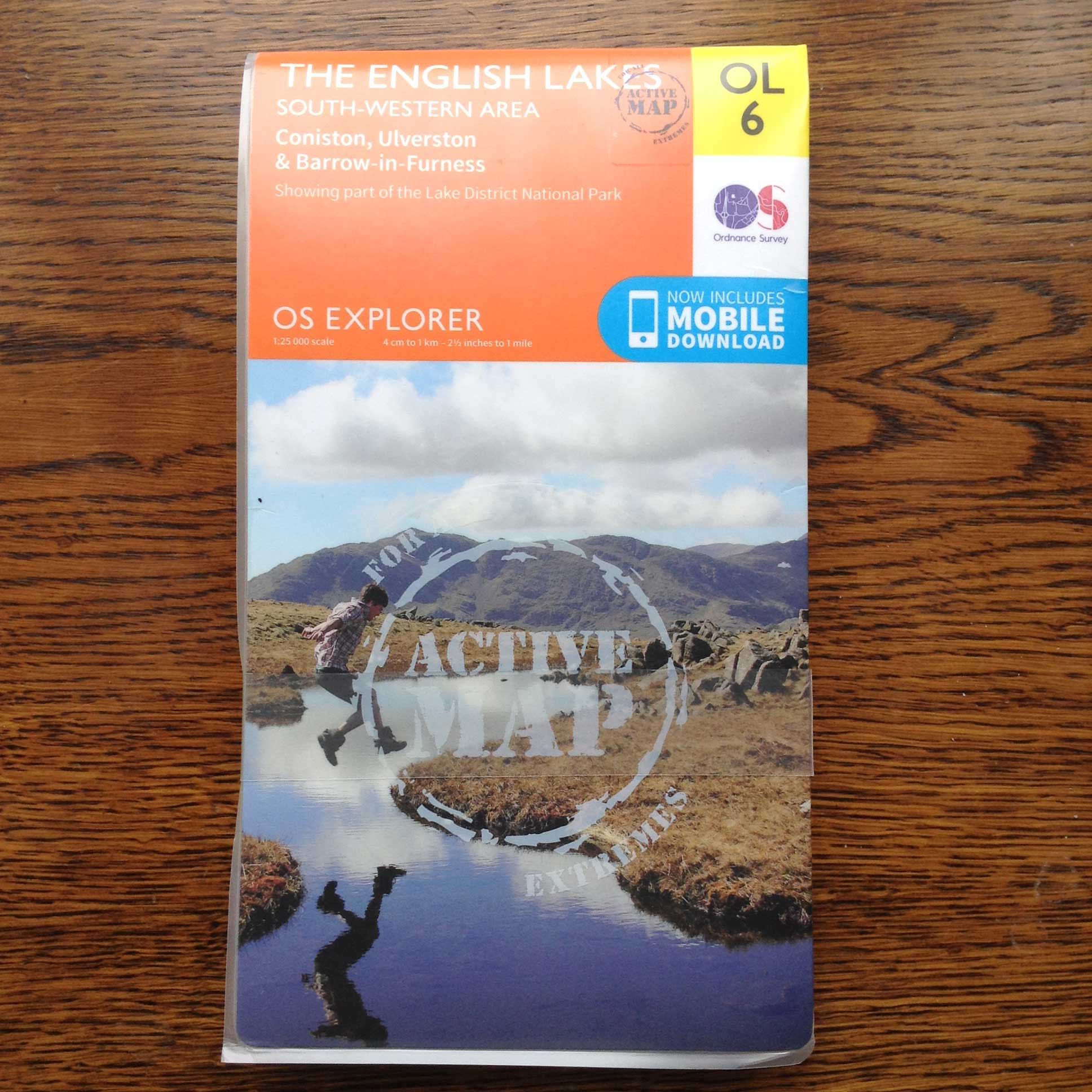 OS EXPLORER OL6 SOUTH WESTERN ACTIVE MAP