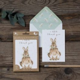 rabbit thankyou notecards