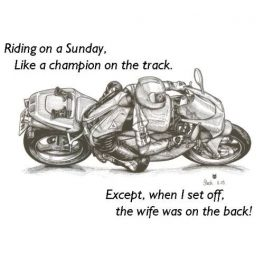 Motorcycling on a sunday