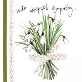 Snowdrop Sympathy Card