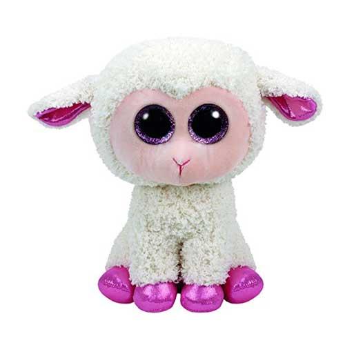 Beanie Boo's Twinkle Glitter Eye Pink Lamb, Cream
